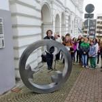 ... in die Corneliusstraße zur Gedenktafel für die ehemaligen jüdischen Mitbürger Lüdenscheids