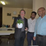 Achim Riggert bedankt sich für die Gastfreundschaft