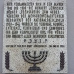 Gedenktafel an die jüdischen Mitbürger